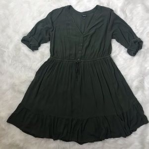 Torrid olive green lined skater dress 2X